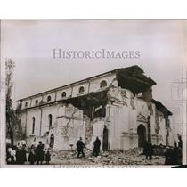 1928 Press Photo earthquake damages ancient church in Baltaji, Bulgaria