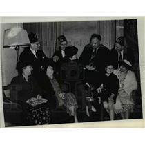 1938 Press Photo Mrs. E.E. Howd, A. Collins, C.E McDermott & John Herbert Wenzel