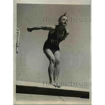 1932 Press Photo Katherine Rawls 15 year old Diving Champ - nee00304
