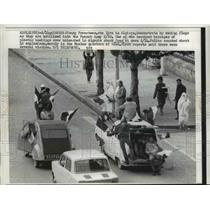 1962 Press Photo Heaviest barrages of plastic bombs at Oran at Dawn - nee00445