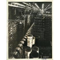 1936 Press Photo Westinghouse Electric & Manufacturing Co. motor assembly aisle