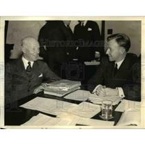 1934 Press Photo of Franklyn D. Mooney (L) President of the New York and Cuba