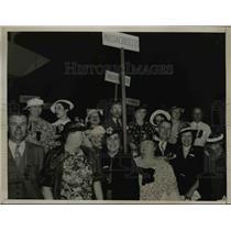 1936 Press Photo Masschussetss Women Delegates  - nee01046