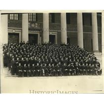 1929 Photo Harvard Graduates Take Group Picture front Widner Library