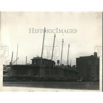 1926 Press Photo Barge Home of Mr & Mrs Felix Tarante - nee04369