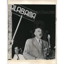 1948 Press Photo Claude O. Vardaman casts first state vote in Alabama