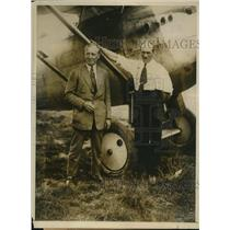 1925 Press Photo Marcel Pollon & Henri Pitot & French aircraft