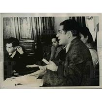 1938 Press Photo Luis I Rodriguez , expelling 3 members in National Revolution