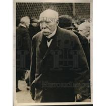 1927 Press Photo Paris France Georges Clemanceau war time former premier