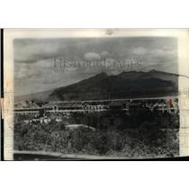 1942 Press Photo View of Bomb Wrecked Roofs Near Nariveles Mt - nee03843
