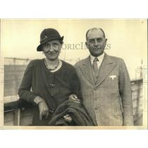 1938 Press Photo Julius Curtis and Wife - nee04648