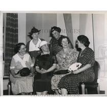 1937 Press Photo Mrs. John A. Kramer, Mrs. Elizabeth Deane & Mrs. Eva G. Starkey