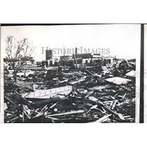 1958 Press Photo A school demolished by a tornado that injured 40 in El Dorado