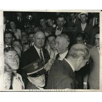 1932 Press Photo James Farley Campaigns for Roosevelt for President in Chicago