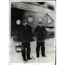 1959 Press Photo of Col Georgi Shonin and Valery Kubasov after a successful