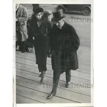 1933 Press Photo Frederick von Prittwitz and Wife at Coolidge Memorial Service