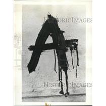 1936 Press Photo Blood Writing on the wall of Carasas - nee01768