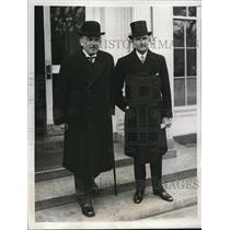 1932 Press Photo Dr Kuhlmann and Friedrich von Prittwitz at White House