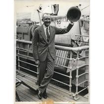 1931 Press Photo Ambassador von Prittwitz in Liner Bremen - nee04635