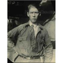 1925 Press Photo Boy Scout & Hero Loren Underwood Arrested for Burglary Denver