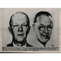 1951 Press Photo Frederick Emerson Peters impersonated President Roosevelt