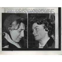 1959 Press Photo Mrs. Rebecca Zimmerman and Mrs. Jerome Phillips - nee03162
