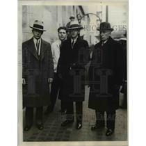 1931 Press Photo Charles M. Pierce, Detectives Joseph Arnold, Thomas Croak