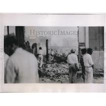 1935 Press Photo Ruins of an Official Building After Rioting in Maracaibo