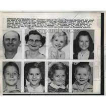 1959 Press Photo James Zimmerman Family struck by freight train. Waseca, Minn.