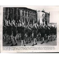 1950 Press Photo German Red Youth at Big Whitsuntide Rally in Lustgarten Square
