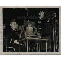 1940 Press Photo Gov. Leverett Saltonstall addressing opening of American Legion