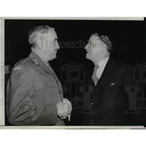1945 Press Photo Lt Gen Sir John Lavarack & Dep Prime Min Francis Michael Forde