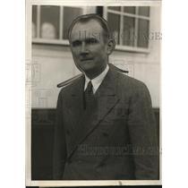 1930 Press Photo Baron Friedrich von Prittwitz und Gaffron on SS Europa