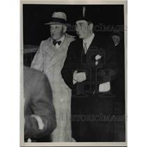 1935 Press Photo Admiral Vladimiro Pini Italian Naval Expert Arrives in London