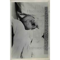 1949 Press Photo Baby Born to Mr & Mrs William Stafford Born in Snowstorm