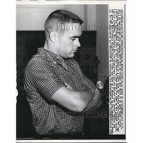 1959 Press Photo William Arthur Koons shown at arraignment, Jumping bail Chicago
