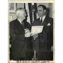 1935 Press Photo Senator Minton of Ind & VP John N Garner in DC - nee03222