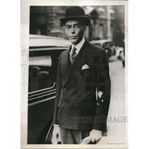 1938 Press Photo London England Dr Primo Villa Michel Mexican Minister