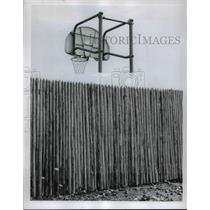 1958 Press Photo Fences