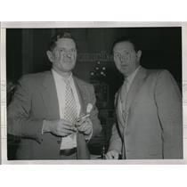1949 Press Photo Chairman Burnet Maybank and Lawrence A. Rubin