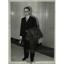 1934 Press Photo Howard J Kanpp witness in B Hauptmann kidnap case