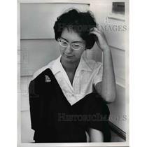 1962 Press Photo judy Pistillo age 15 hit by afirecracker - nee05836