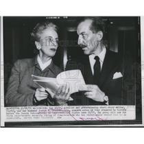 1955 Press Photo Kay Boyle, novelist, with her husband, Joseph M. Franckenstein