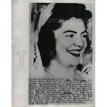 1951 Press Photo Mrs Edith Ray Charged With Assault with Deadly Weapon Her Car
