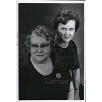1967 Press Photo Mrs John Twardzik & Eleanor Tomkaeski Polish Womens Alliance