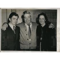 1939 Press Photo LA Calif Lorraine R Wilson dad Ernest Reams & hubby Al Wilson