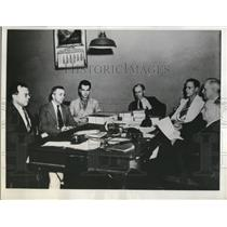 1938 Press Photo H.N Roth, Louis Dolive, dr. John Hatfield, andMaynard Evans