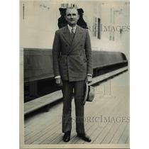 1930 Press Photo Baron Friedrich Wilhelm Von Prittwitz the German Ambassador
