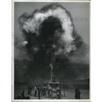 1941 Press Photo One of the big guns in San Francisco on a firing practice