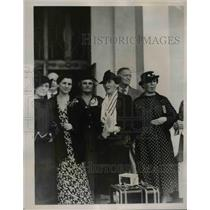 1936 Press Photo of Caroline O'Day (2nd from right) at the Inter-American Peace